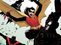 Damian Wayne battles past Robins for supremacy in the current story line of Batman and Robin.