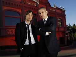 The magic is lost: Actor Cillian Murphy, left, and director Rodrigo Cortes visit the Magic Castle in Hollywood, but they aren't fooled. And neither are the main characters in their supernatural thriller, 'Red Lights,' out Friday.