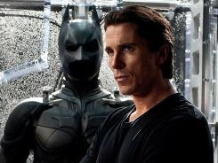 "Christian Bale dons the Batsuit one final time in 'The Dark Knight Rises.' ""The claustrophobia was just unbelievable,"" Bale said of the outfit."