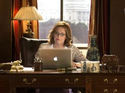 "Sigourney Weaver says her 'Political Animals' character, Secretary of State Elaine Barrish Hammond, is ""very capable of fielding so many challenges that are political and important in the big picture, but where her family is concerned, she is much less adept."""