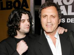 Actors Sage Stallone, left, and Frank Stallone arrive at the premiere of Rocky Balboa at the Grauman's Chinese Theater on December 13, 2006 in Hollywood, California.