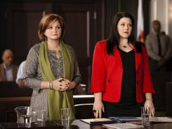 Faith Prince, left, guest-stars alongside Brooke Elliott on Sunday's episode of Lifetime's 'Drop Dead Diva.'