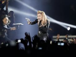 Madonna is being sued for a video played during her concert on Saturday.