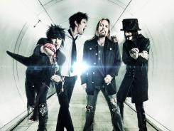 Motley Crue is cranking again: Nikki Stixx, left, Tommy Lee, Vince Neil and Mick Mars.