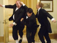 'The Three Stooges,' starring Will Sasso, left, Chris Diamantopoulos, and Sean Hayes, is this week's Platinum Pick.