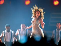 Jennifer Lopez performs during her Dance Again World Tour in Santiago, Chile.