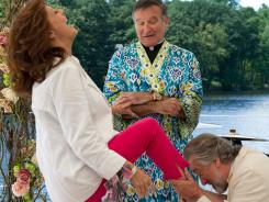 Susan Sarandon, Robin Williams and Robert De Niro, on bended knee, star in 'The Big Wedding.'