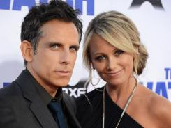 Star Ben Stiller and his wife, Christine Taylor, hit the red carpet for the premiere.