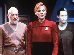 Make it so: Patrick Stewart, left, Gates McFadden and Brent Spiner.