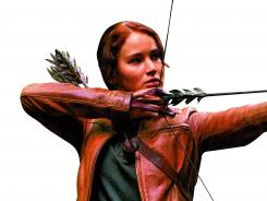 Katniss Everdeen: Jennifer Lawrence's aim was true in the hugely popular The Hunger Games.