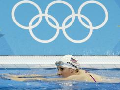Teen swimming phenom Missy Franklin makes her Olympic debut Saturday night in the 400-meter freestyle relay.