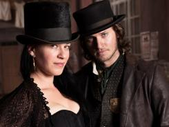 Toppers: Bordello madam Eva Heissen (Franka Potente) and Det. Kevin Corcoran (Tom Weston-Jones).