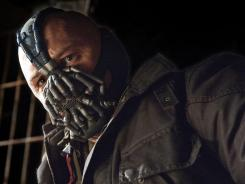 'The Dark Knight Rises,' with Tom Hardy as Bane, was strong in its third weekend.