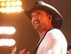Country star Tim McGraw, here in a photo from CMA Music Fest in 2010, is in the middle of a legal battle with Curb Records.