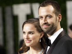 Natalie Portman and Benjamin Millepied, photographed in February at the Oscars, were married Saturday at a private residence in Big Sur, Calif.