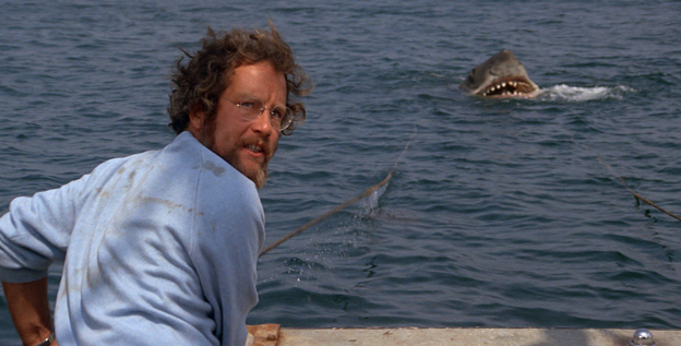 Richard Dreyfuss and the submarine star of 'Jaws.'