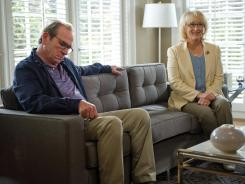 Trying to close the space between them: Arnold (Tommy Lee Jones) reluctantly goes on a couples counseling retreat with his wife of 31 years, Kay (Meryl Streep), who wants more out of the marriage.