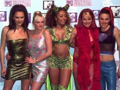 The Spice Girls gather at the 1997 MTV Music Awards. They'll re-gather at Sunday's closing ceremonies of the 2012 Summer Olympics