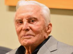 Kirk Douglas was honored at Monday's screening of 'Spartacus' at the Academy of Motion Picture Arts and Sciences in Los Angeles.