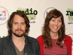Brian Aubert, left, and Nikki Monninger of Silversun Pickups, which wants Mitt Romney's campaign to stop using their song 'Panic Switch.'
