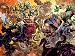 Animal warriors fight for survival on Earth in the new Battle Beasts comic book.