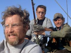 Richard Dreyfuss, left, Roy Scheider and Robert Shaw will soon discover that they're going to need a bigger boat in 'Jaws.'