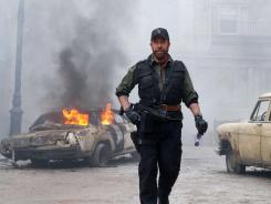 'The Expendables 2,' with Chuck Norris, was the action movie of choice over the weekend.