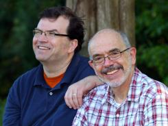 Message of hope: David Fitzpatrick, left, was a mentally ill young man when he wrote a letter to Wally Lamb, right, about Lamb's first novel, 'She's Come Undone.'