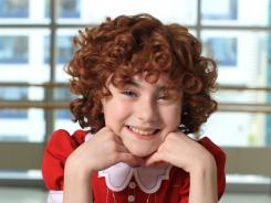 Lilla Crawford, 11, plays Little Orphan Annie in the new 'Annie' revival on Broadway.