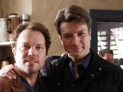 Nathan Fillion reunites with his former 'Firefly' cast mate Adam Baldwin tonight on 'Castle.'