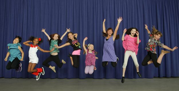 Castmembers Junah Jang, left, Tyrah Skye Odoms, Taylor Richardson, Madi Rae Dipietro, Emily Rosenfeld, Georgi James, Lilla Crawford and Jaidyn Young are jumping at the chance to play orphans in 'Annie.'