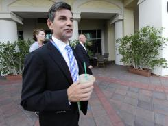 George Stephanopoulos at the Republican National Convention Wednesday in Tampa.