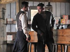 Shia LaBeouf, left, and Tom Hardy play bootlegging brothers.