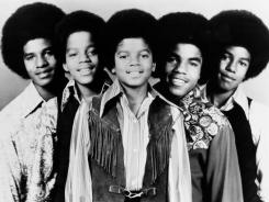 Jackie, left, Marlon, Michael, Tito and Jermaine Jackson.