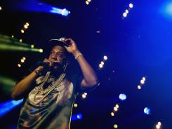 Jay-Z performs at the Made In America festival on Saturday in Philadelphia.