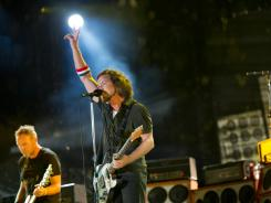 Pearl Jam performs at the Made In America music festival Sunday in Philadelphia.