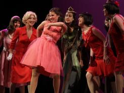 Chloe Voreis, center, is among the 60 teenage musical performers who dream of performing on Broadway.