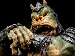 A face only a Star Wars mother could love: A Gamorrean executioner named Lomrokk gets the high-end statue treatment in Sideshow Collectibles' Mythos series.