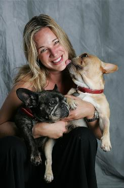 Doolittler.com's Patty Khuly with her dogs Vincent and the late Sophie Sue.