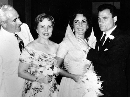 Elizabeth Taylor and Mike Todd Wedding