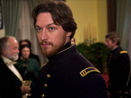 James McAvoy's soldier-turned-lawyer in this conspiracy case finds  himself in the uncomfortable position of defying the Union after nearly  dying for it.