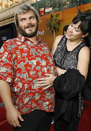 jack black wife. Jack Black and wife Tanya