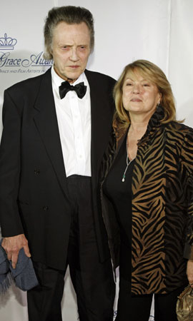 christopher walken wife. Christopher Walken and wife Georgianne arrive for the Princess Grace Awards.