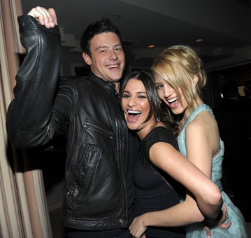 dianna agron lea michele cory monteith. Lea Michele, and Dianna