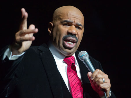 Steve Harvey speaks during BET''s Celebration of Gospel at the Orpheum