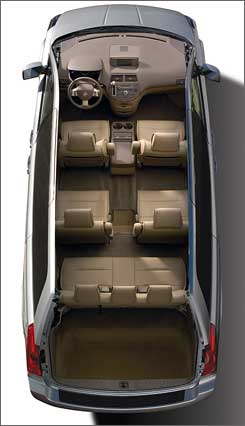 Quest's second-rowseats move forward for extra legroom in the third row while still leaving adequate legroom for the second row.