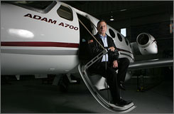 Rick Adam with the $2.2 million A700, which will be about half the cost of the lowest-priced corporate jet now on the market.