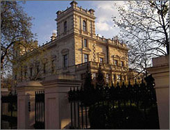 Lakshmi Mittal paid $128 million for this townhouse in the posh Kensington neighborhood in London. The mansion has garage space for 20 cars and is embellished with marble taken from the same quarry that supplied the Taj Mahal.