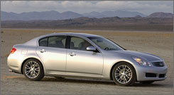 Infiniti G35 offers premium appeal and all kinds of extras for less than $40,000.