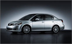 The 2008 sedan will be a companion to the $16,000 all-wheel-drive SX4 hatchback.